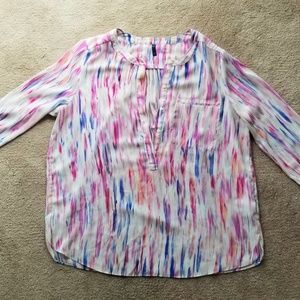 Misses size large brush stroke top/blouse